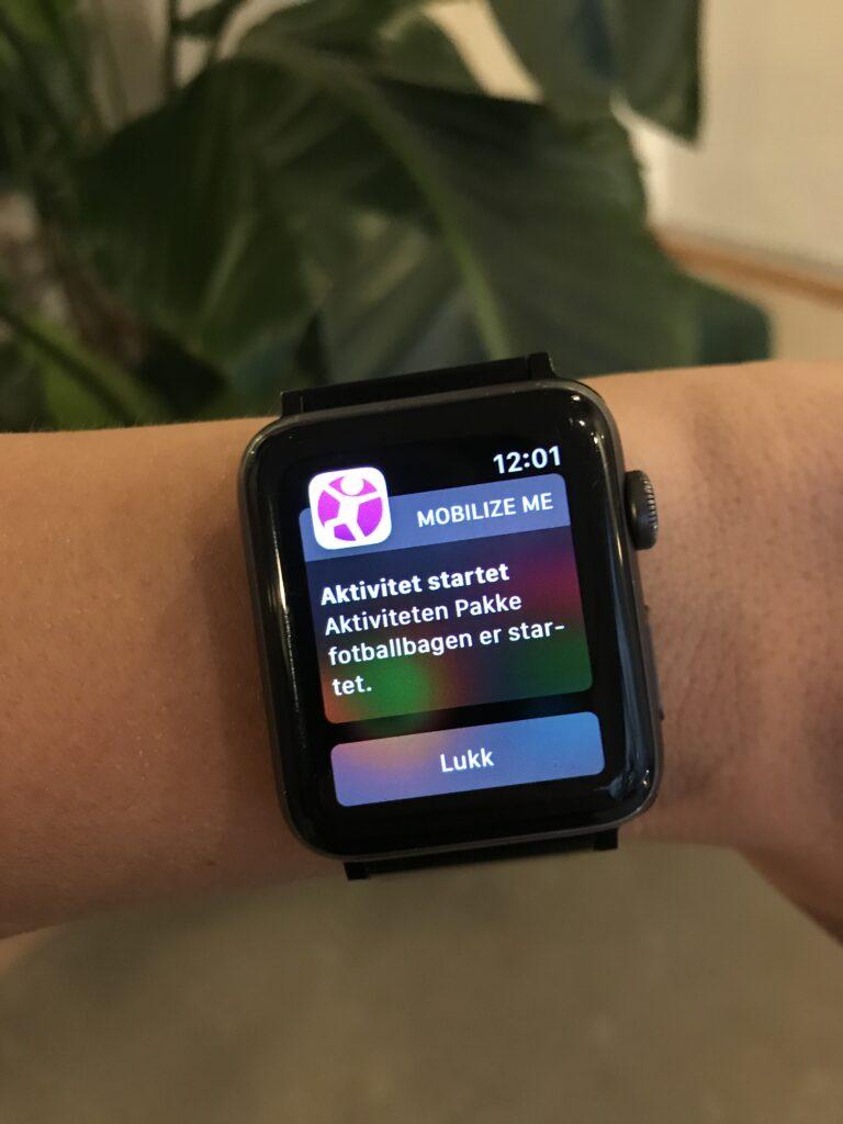 Mobilize me app på smarttelefon