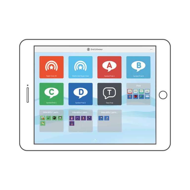 Grid utforsker på iPad